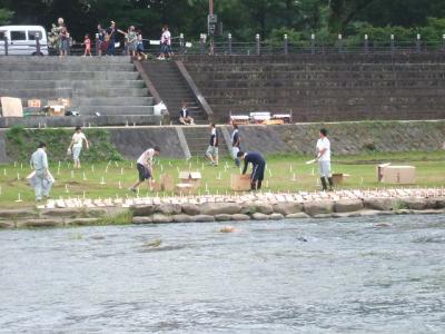 川祭り準備